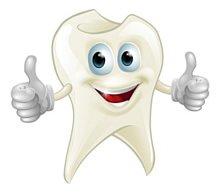 Weiße, gesunde Zähne