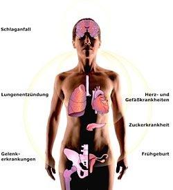 Parodontoserisiko auf den Gesamtorganismus