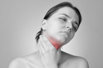 Halsschmerzen und trockener Mund wegen Infektion
